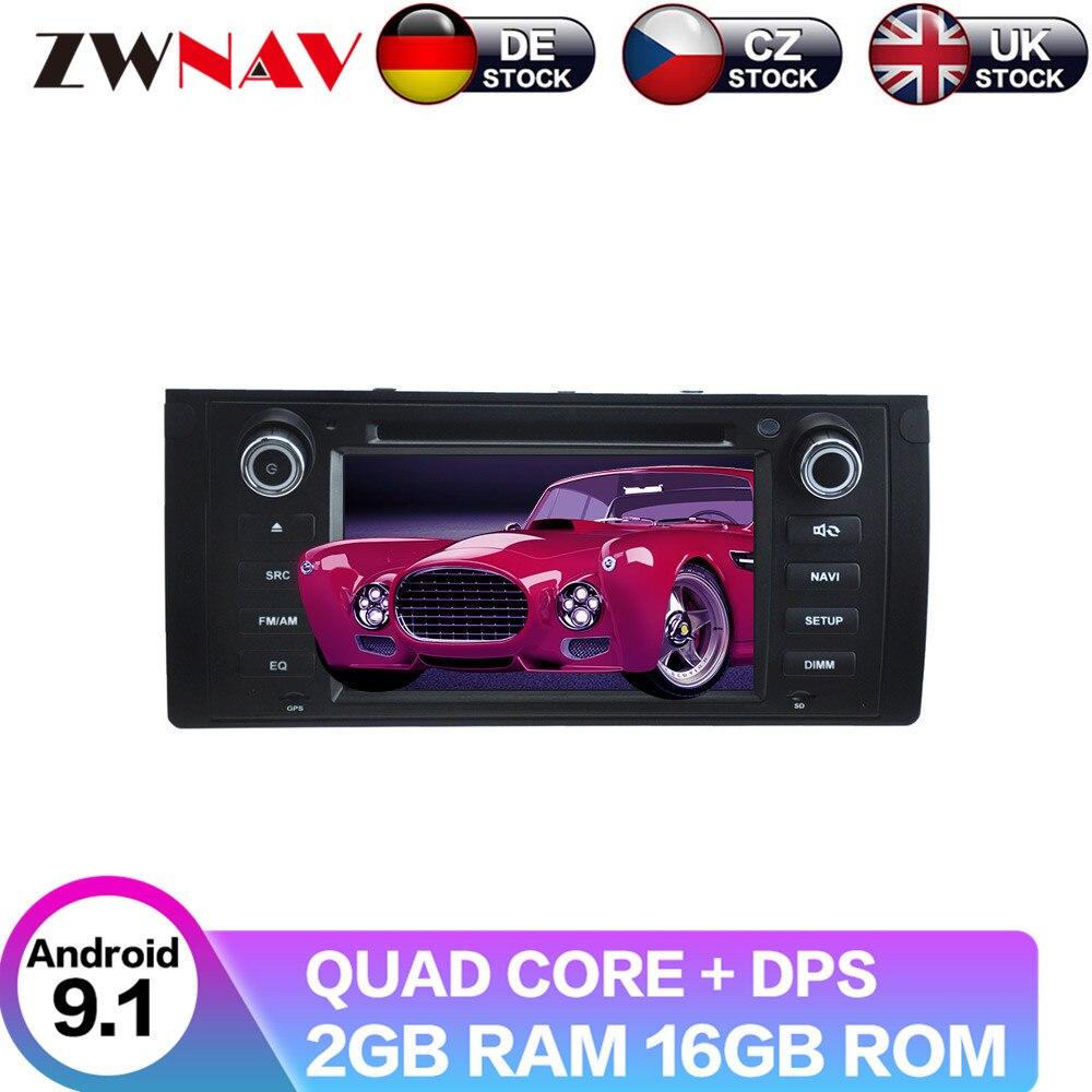 Android 9 con DSP para BMW X5 E39 E53 reproductor de vídeo DVD para coche navegación GPS Multimedia Radio Tape