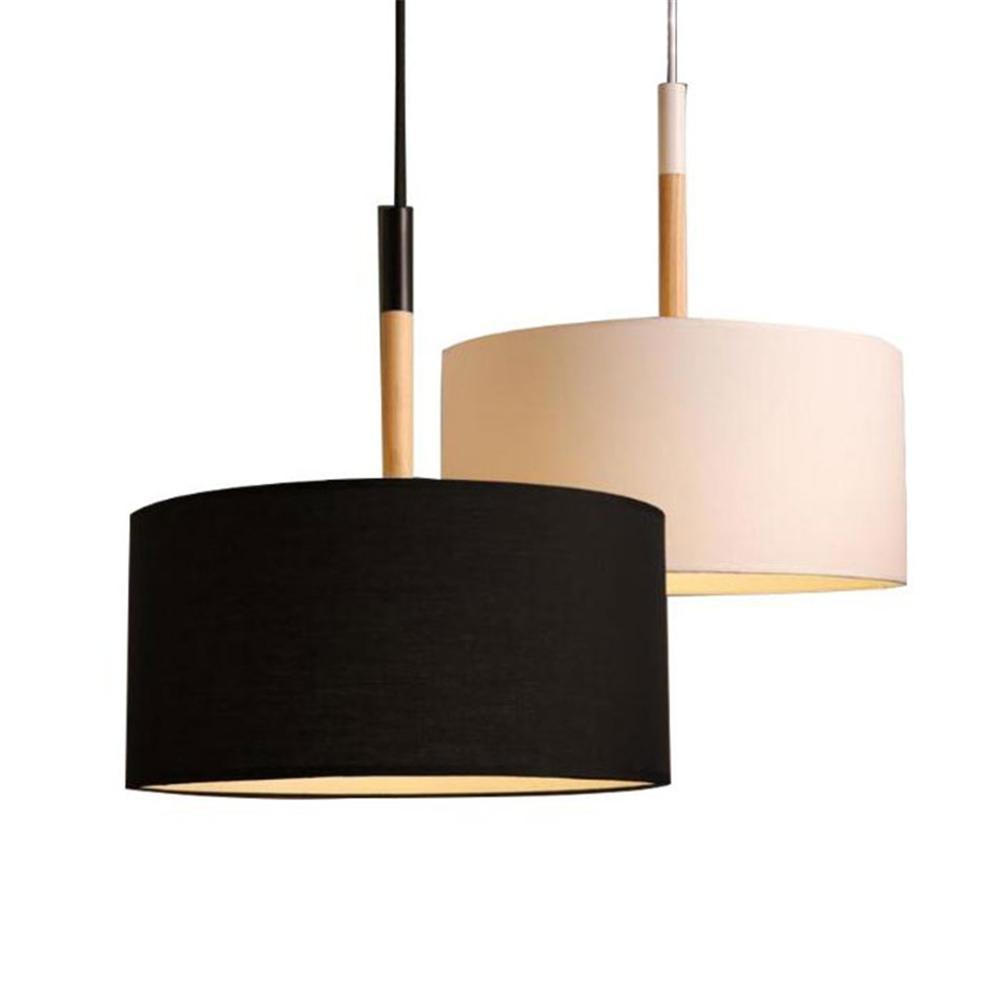 Scandinavian style modern D25cm D40cm pendant lighting high quality black white big fabric cloth shade ceiling pendant lamp