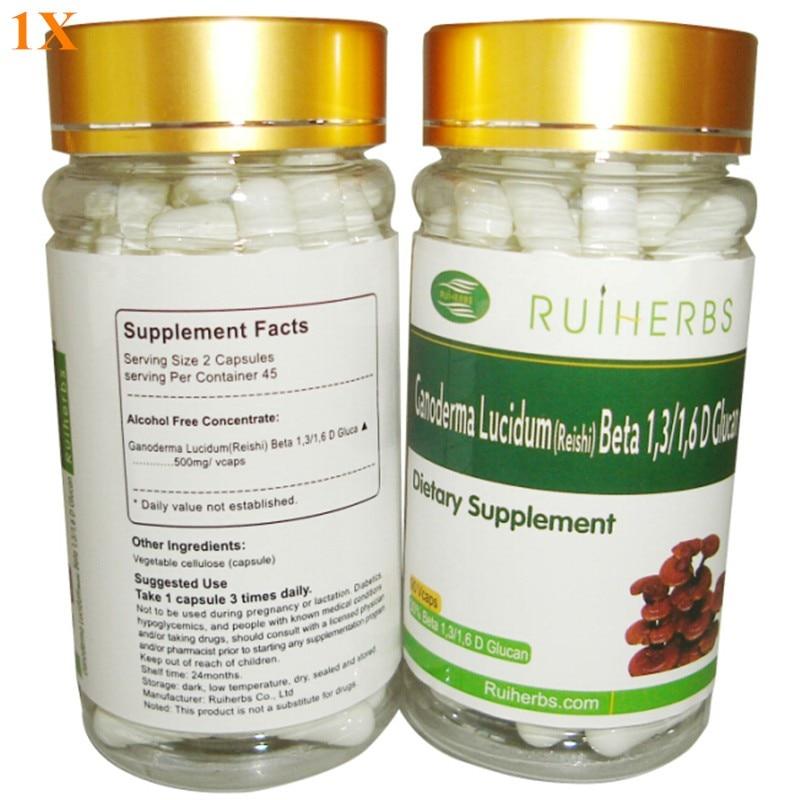 3 garrafas reishi cogumelo extrato 30% beta glucan pó ganoderma lucidum extrato tampões 500mg x 270 pces