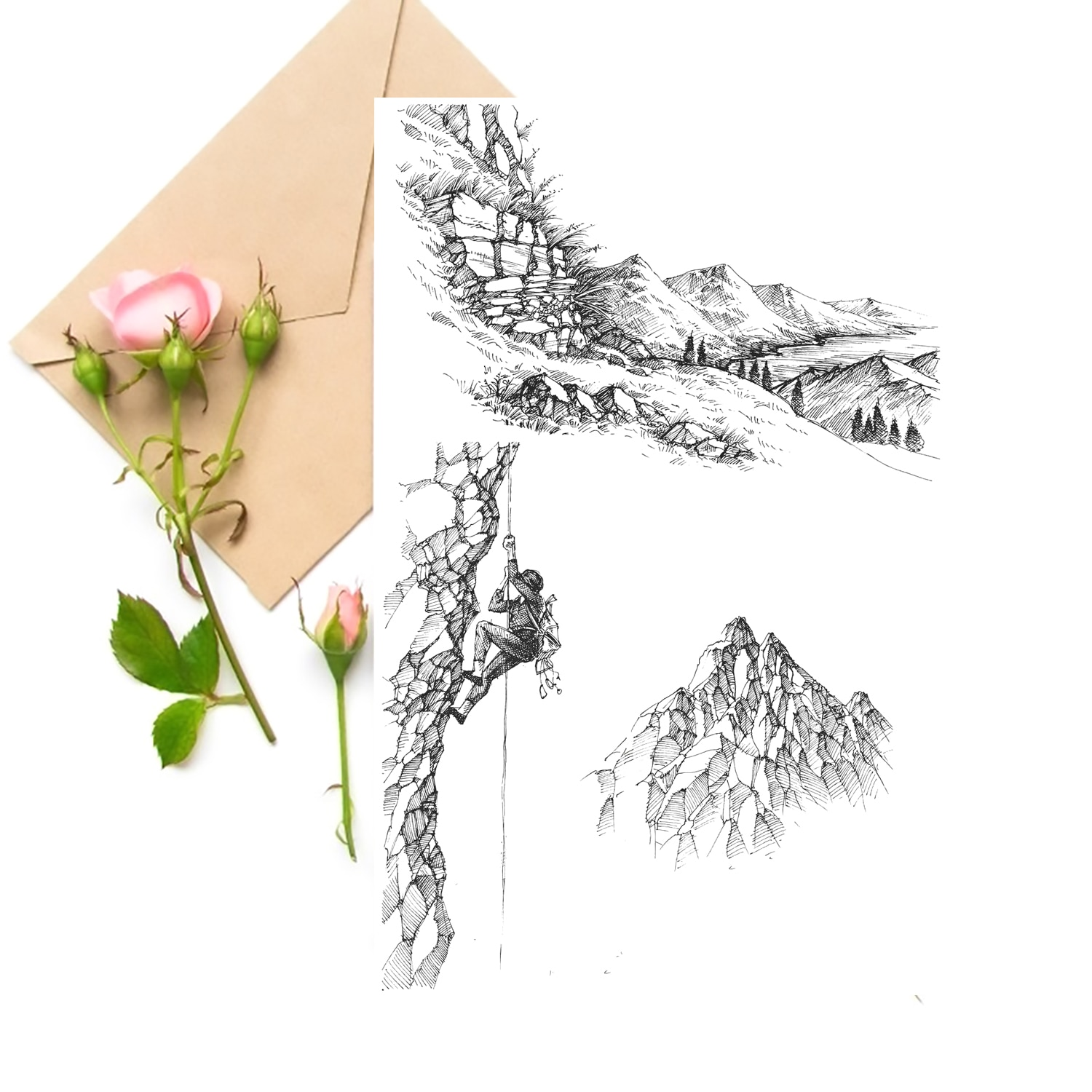 Rock Climbing Clear Stamps For DIY Scrapbooking Card Making Silicone Stamps Fun Decoration Supplies