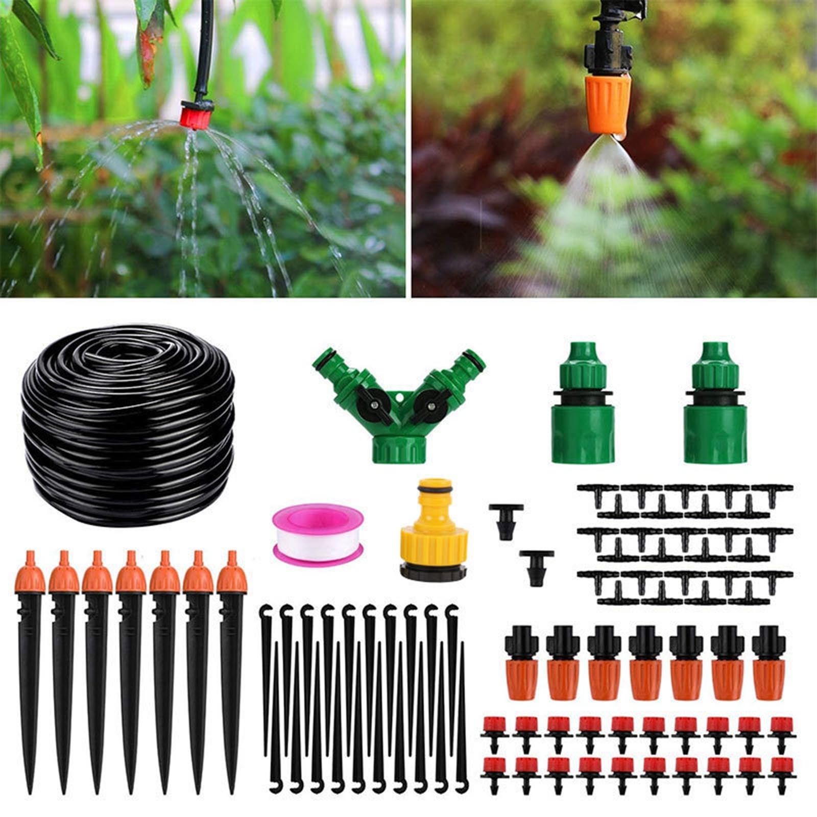 Automatic Drip Irrigation Tool Spikes Automatic Flower Plant Garden Watering System Kit Adjustable Water Self-watering Device#T3