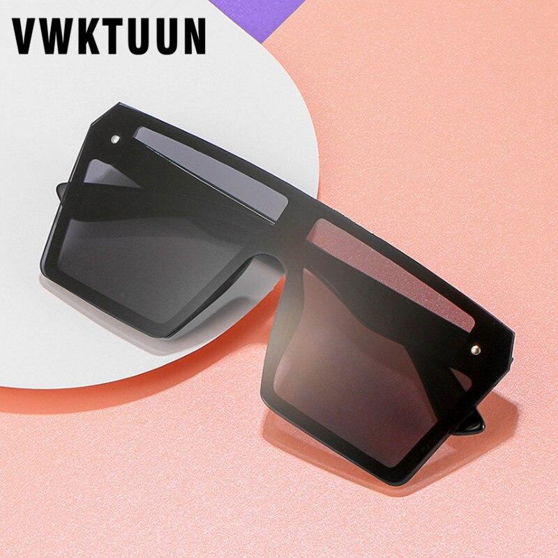Мужские квадратные солнцезащитные очки VWKTUUN, черные солнцезащитные очки для вождения UV400, большие мужские очки для вождения, уличные очки