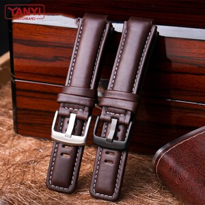 Top Layer Cowhide Genuine Leather bracelet 24-16mm watchband for Timex T2n720 T45601 T2n739 Tide Series Watch band wristwatches