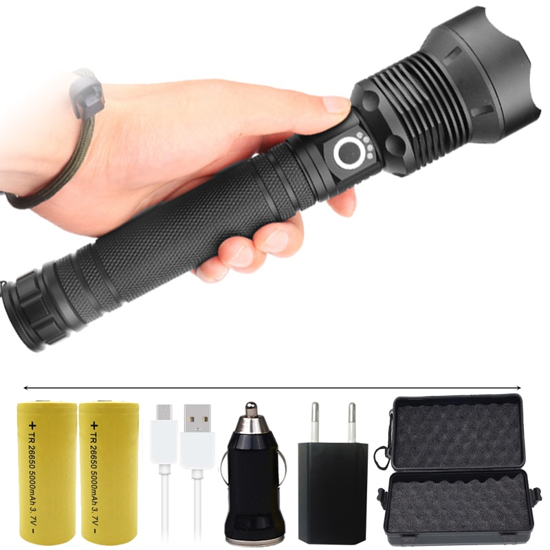 FX-DZ901282 the most High Powerful Tactical LED Flashlight torch 8000LM CREE XLamp XHP70.2 light 26650 18650 Battery Lantern