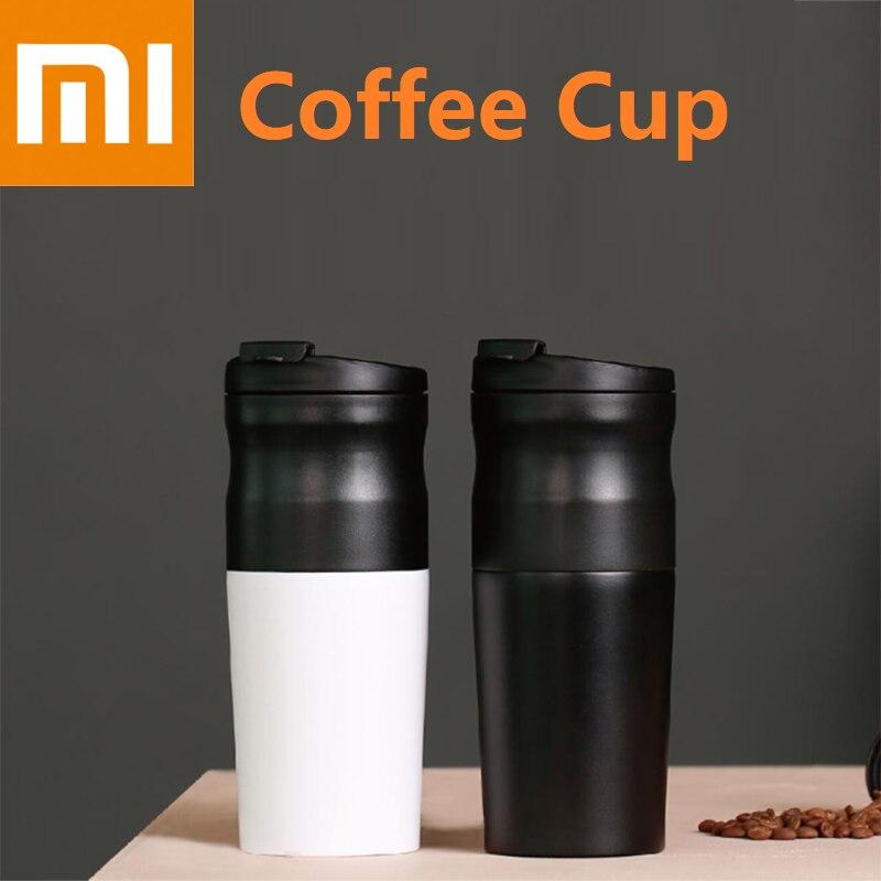 Xiaomi افيدا الكهربائية الفولاذ المقاوم للصدأ القهوة كوب 427 مللي طاحونة مزدوجة طبقة تصفية مصغرة المطبخ طاحونة القهوة الفول طحن مقهى