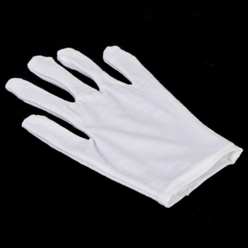 12 Pairs Cotton White Gloves General Purpose Moisturising Lining Gloves L Size enlarge