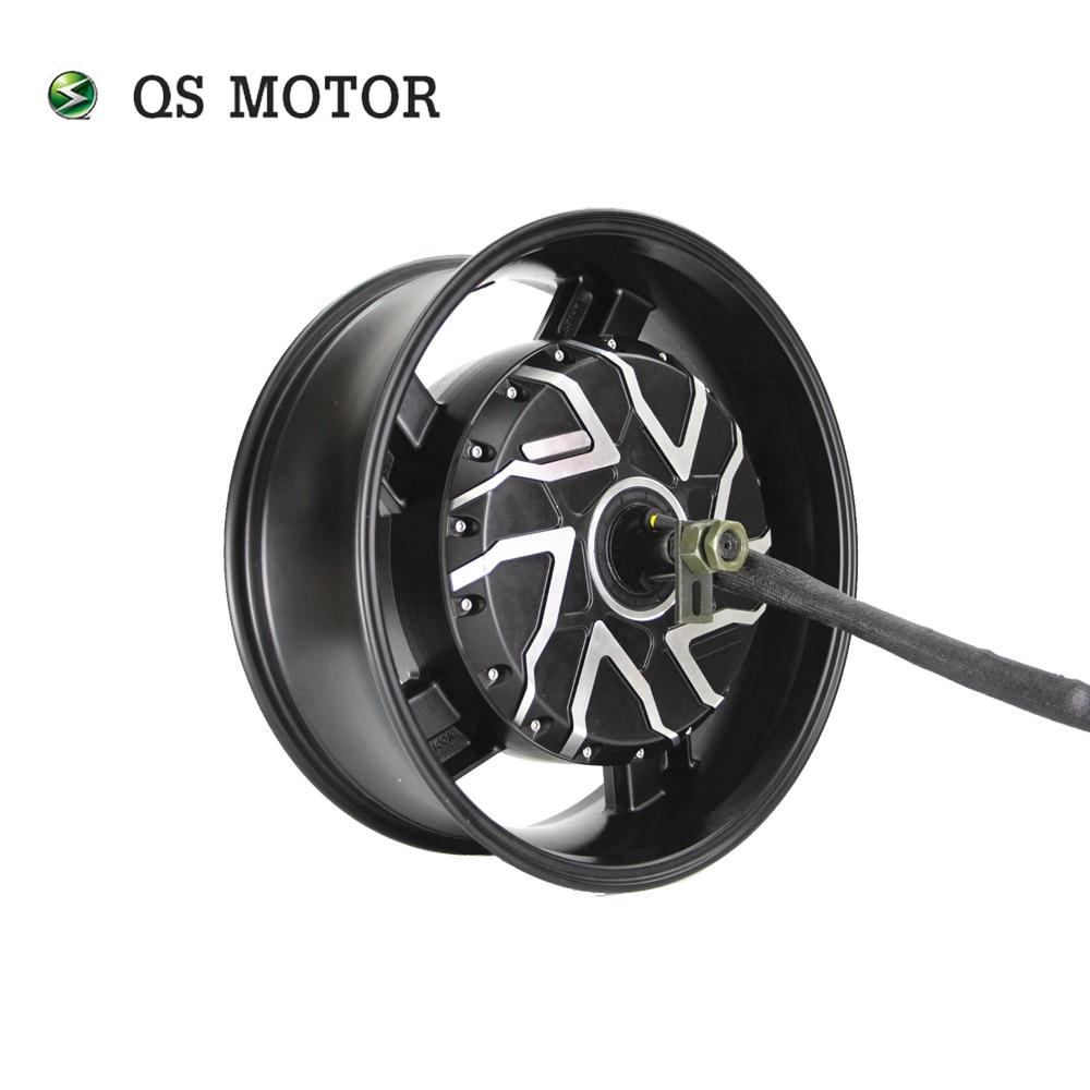 QS-محرك دراجة نارية كهربائي ، 12000 واط ، 17 × 6 بوصة ، 12 كيلو واط ، 70H ، V4 ، محور المحرك