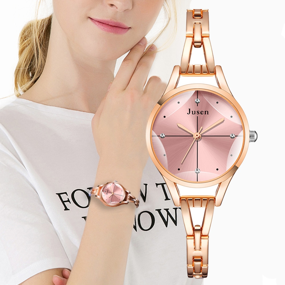 cheap yellow gold plated ladies watch luxury fashion brand stainless steel diamand wrist watch bracelet gifts for women watch Cut Surface Design Luxury Fashion 2021 Brand Women Bracelet Watches Rose Gold Silver Stainless Steel Female Wrist Watch Gifts