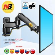 NB F150 2-7kg 100x100 soporte moniteur montage mural écran aluminium bon ressort à gaz air presse 13