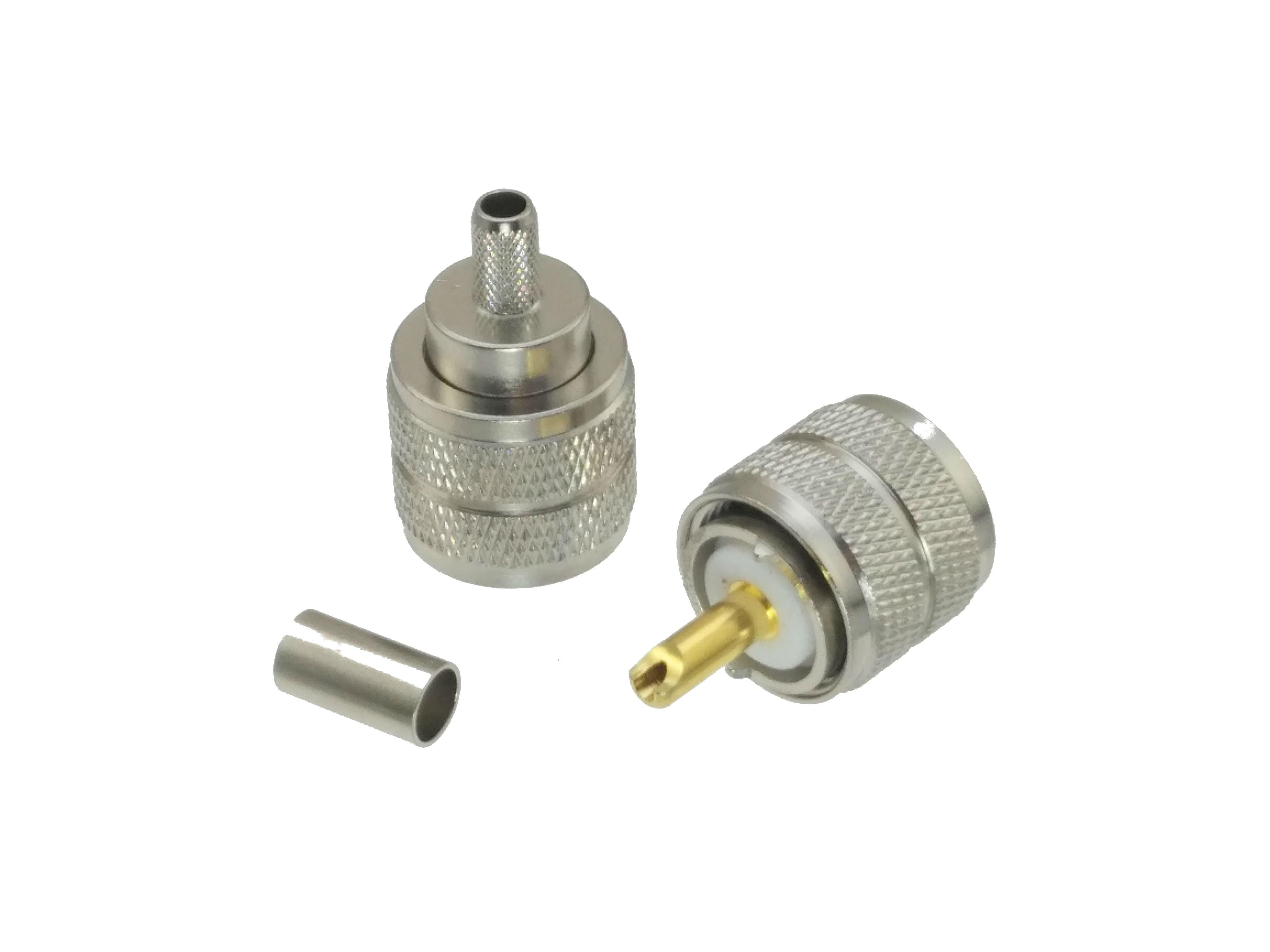 10 шт. разъем UHF PL259 штекер обжимной RG8X RG-8X LMR240 кабель радиочастотный коаксиальный