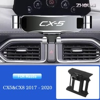 car mobile phone holder air vent outlet clip stand gps gravity bracket for mazda cx 5 cx 8 cx5 cx8 2017 2020 auto accessories