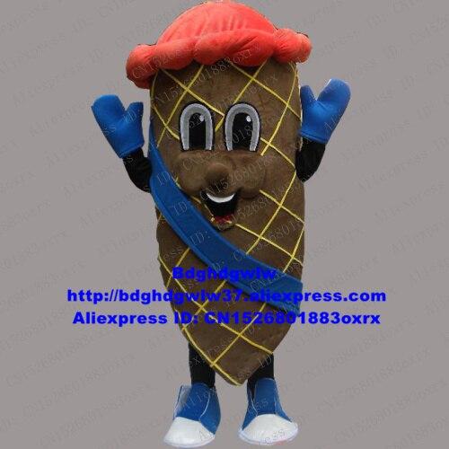 Ice Cream Cone Frozen Yogurt Yoghurt Yoghourt Mascot Costume Adult Cartoon Character Cut The Ribbon Promotion Ambassador zx22