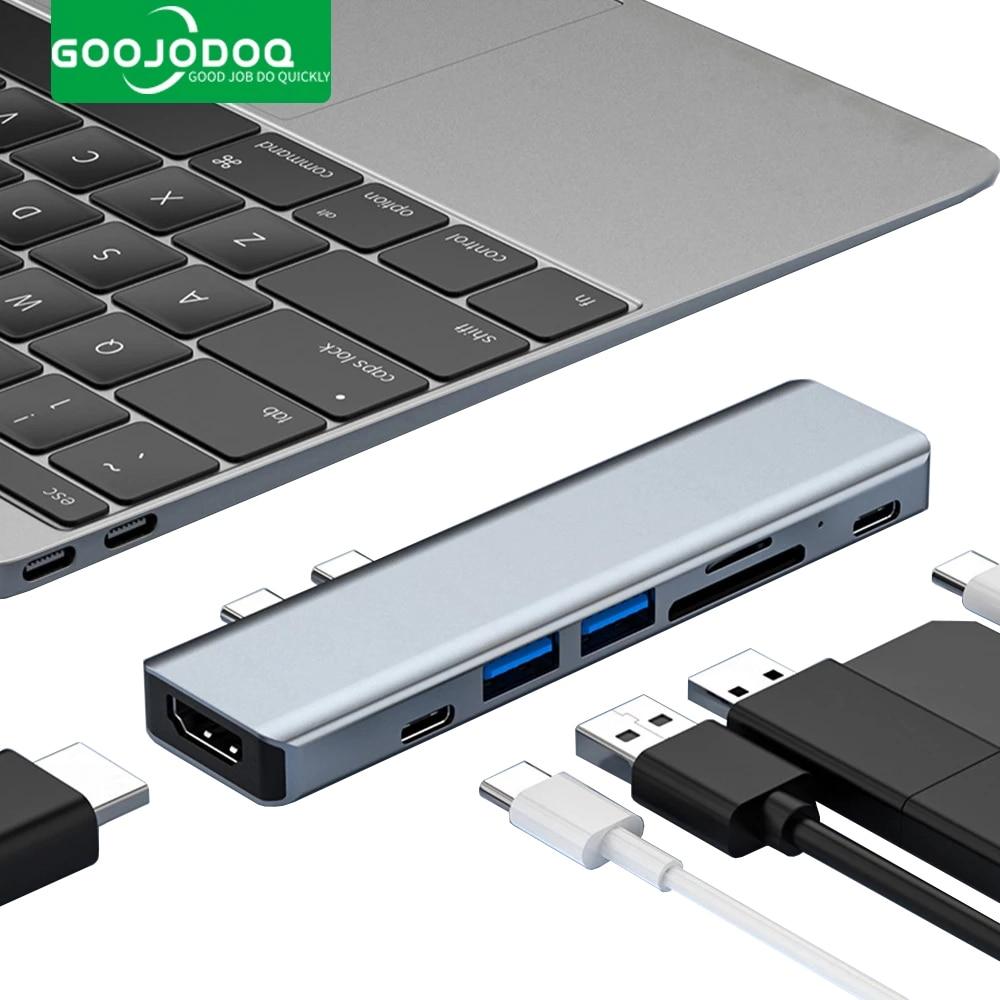 USB نوع C HUB USB C إلى HDMI-متوافق مع محطة حوض USB 3.0 TF SD قارئ PD 100 واط شاحن ل MacBook Pro/Air M1 Type-C الخائن