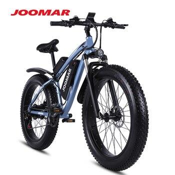 JOOMAR 1000W Electric Bike Fat Tire Ebike 26inch Top Aluminum Alloy Outdoor Beach Mountain Bike Snow Bicycle Cycling MX02S Plus