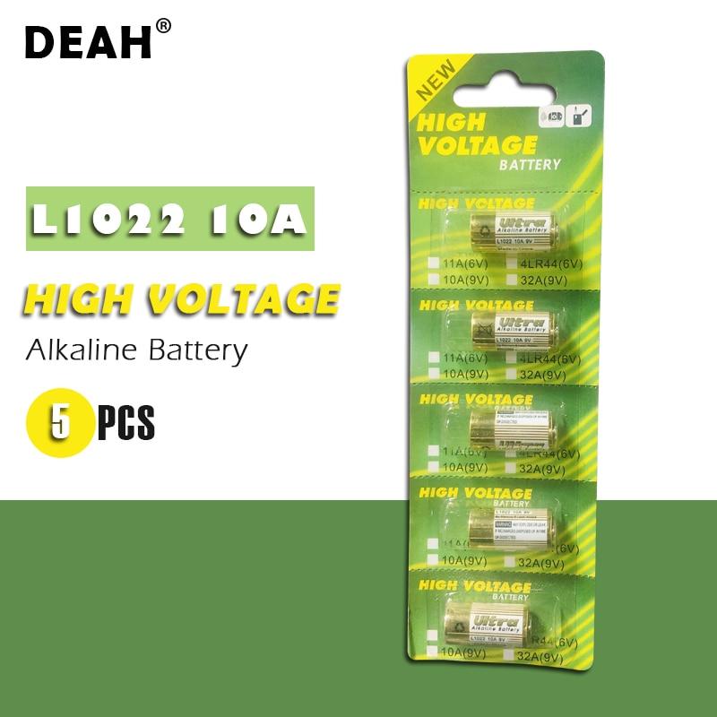 5 шт. новая сухая щелочная батарея L1022 10A 9 В для двери гаража дверной звонок пульт дистанционного управления Автомобильная сигнализация Замена A23L 12В батарея