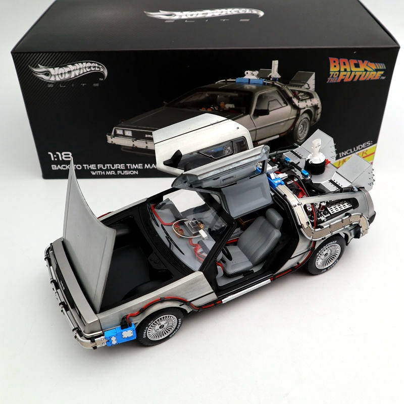 1/18 Scale For Hot Back To The Future Time Machine Ultimate Elite Edition BCJ97 Models Diecast Toys Hobbies Collection Gifts