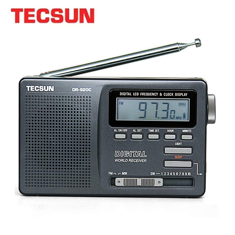 TECSUN DR-920C الرقمية راديو Fm عرض FM/MW/SW متعدد الفرقة راديو محمول FM:76-108 MHz/MW:525-1610kHz/SW:5.95-21.85MHz راديو