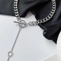 punk style choker jewelry cute chain ball pendant necklace fashion zinc alloy necklaces cool party accessory gifts new arrivals