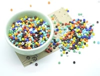 acrylic glass beads colored charms beads needlework beads 234mm for jewelry diy necklace bracelet making