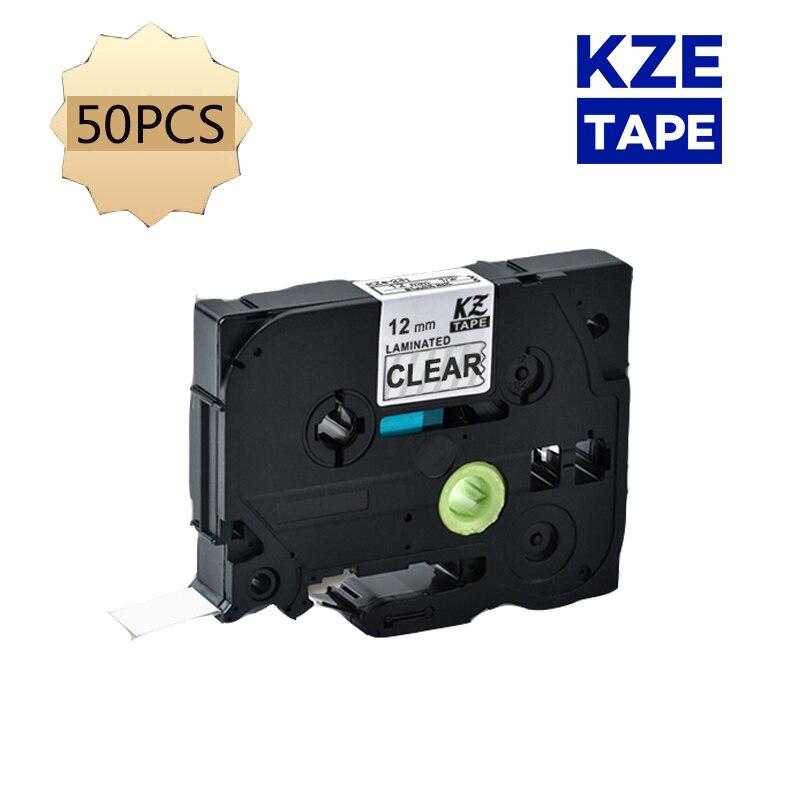 Pces Unistar Compatibilidade P-touch Etiqueta Fita 12mm Pt-h110 Pt-d600 Pt-1000 Fabricante 50 Tze-131