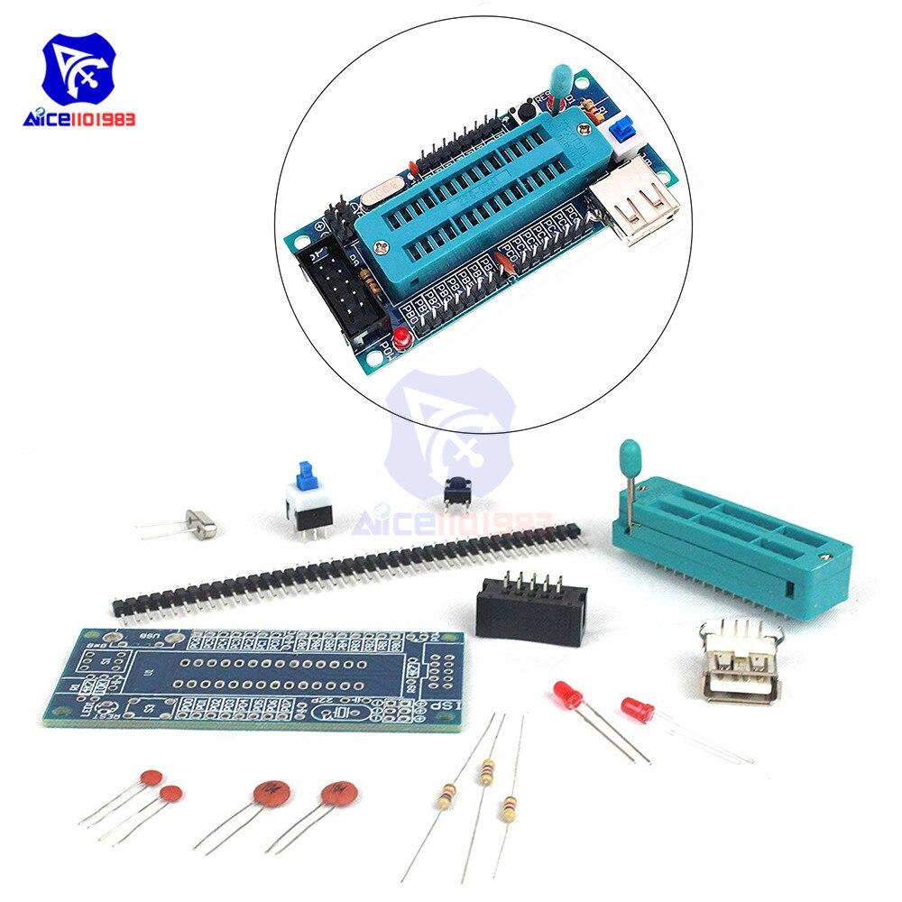 Bricolage plus ATMEGA8 ATmega48 AVR Minimum conseil de développement du système Miniature Mini Suite électronique pièces sans puce Kit de bricolage