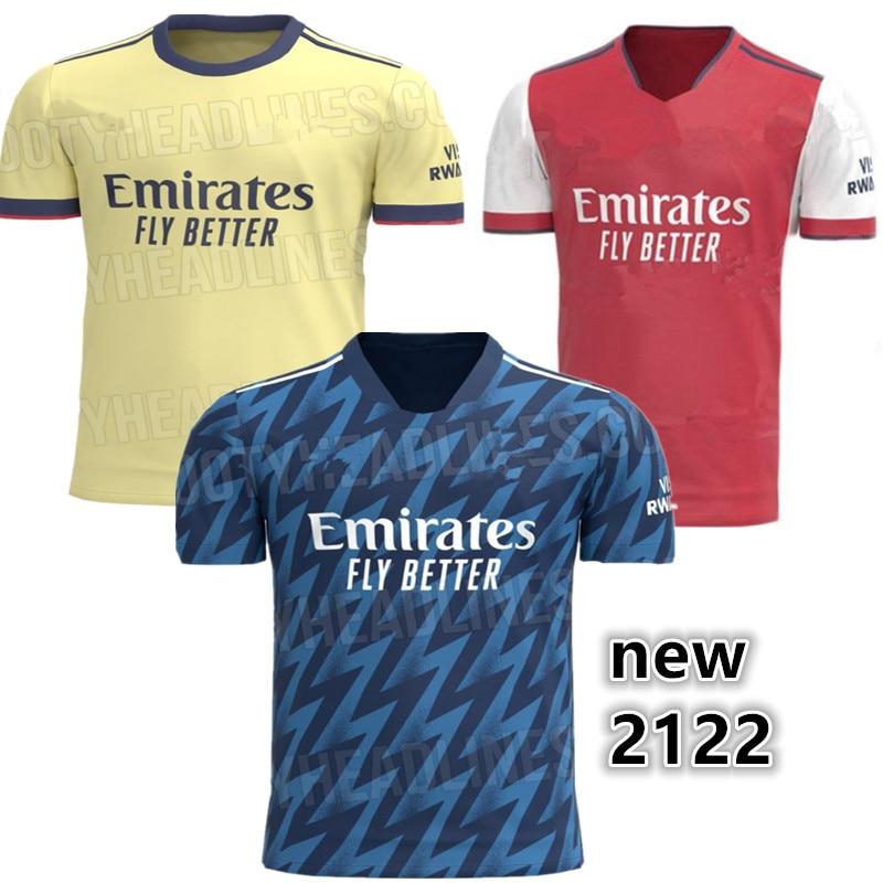 new 21 22 ArsenalES shirt 20 21 Third Home away shirt Odegaard BELLERIN SAKS XHAKA AUBAMEYANG LACAZETTE PEPE THOMAS Top Quality