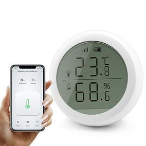 Tuya ZigBee Home Temperature Humidity Sensor Humidity Sensor LCD Screen Digital Moisture Meter Monitor Work with Google Home Ass