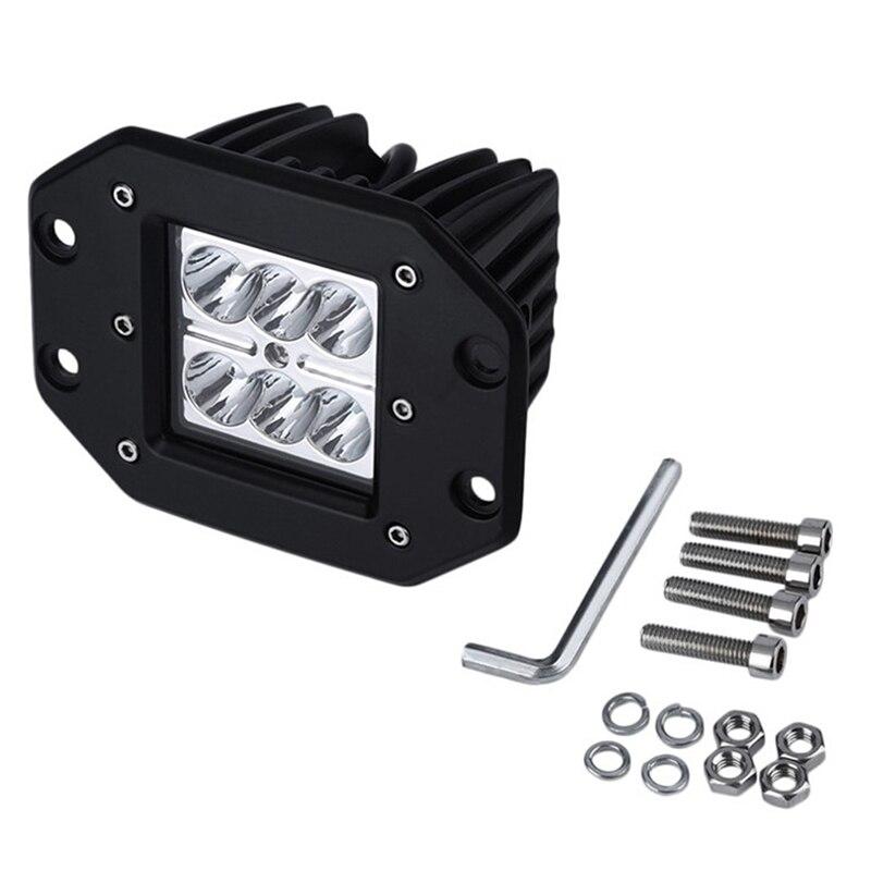 18W 6000k светодиодный точечный рабочий светильник бар Offroad светодиодные противотуманные фары дальнего света для грузовиков светильник штрих-1 шт.