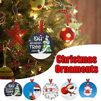 2020 Christmas Ornaments Face Mask Tree Decoration Hilarious Funny New Year Gift Christmas Tree Decor Wedding Party Supplies#4