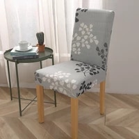 spandex elastic printing dining chair slipcover modern removable anti dirty kitchen seater case stretch chair cover for banquet