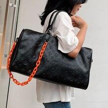 2021 Large Big Capacity Women Sports Bag Pu Leather Fashion Luxury Girls Gym Fitness Bags Travel Han