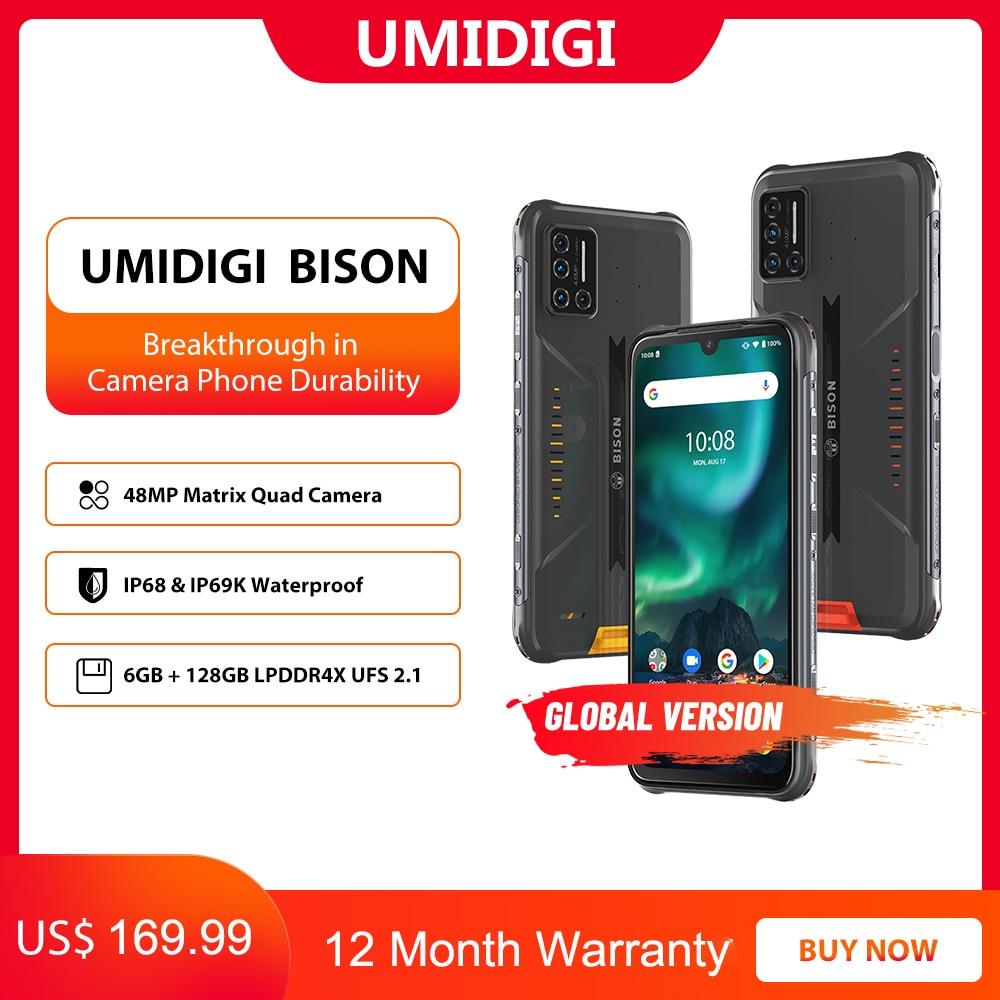 UMIDIGI BISON IP68/IP69K Waterproof Rugged Phone 48MP Matrix Quad Camera 6.3