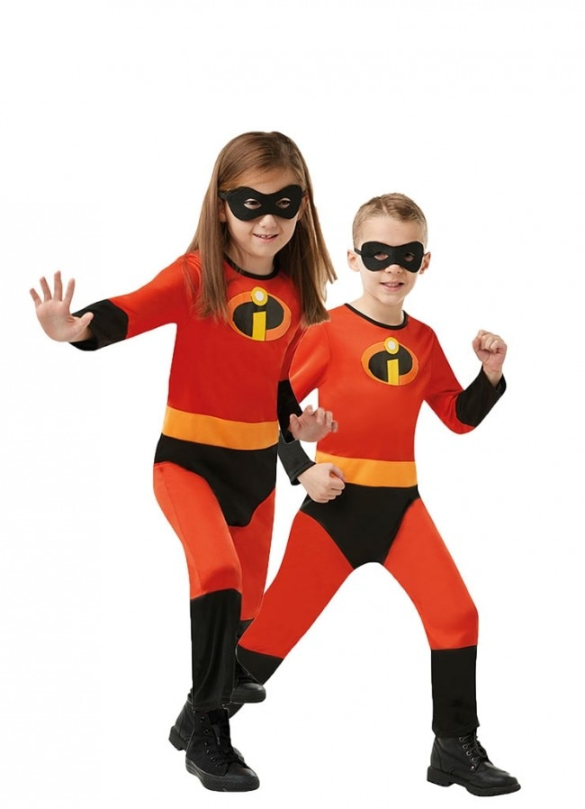 Novo menino mr. incrível 2 cosplay trajes crianças super-herói fantasia vestido macacão meninas halloween violeta cosplay com máscara
