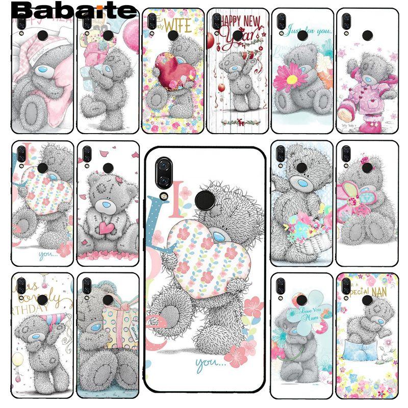 Babaite Tatty Teddy Me To You Bear funda de teléfono para Xiaomi Redmi8 4X 6A 9 Go Redmi 5 5Plus Note4 5 7 Note8Pro