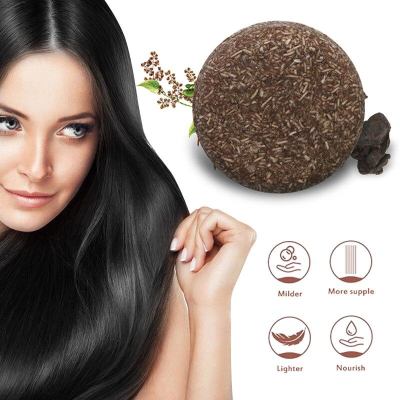 Champú para oscurecer el cabello, fórmula Natural suave, cabello gris, cuidado antipérdida de cabello, cuidado del cuero cabelludo, esencia de cabello seco TSLM1