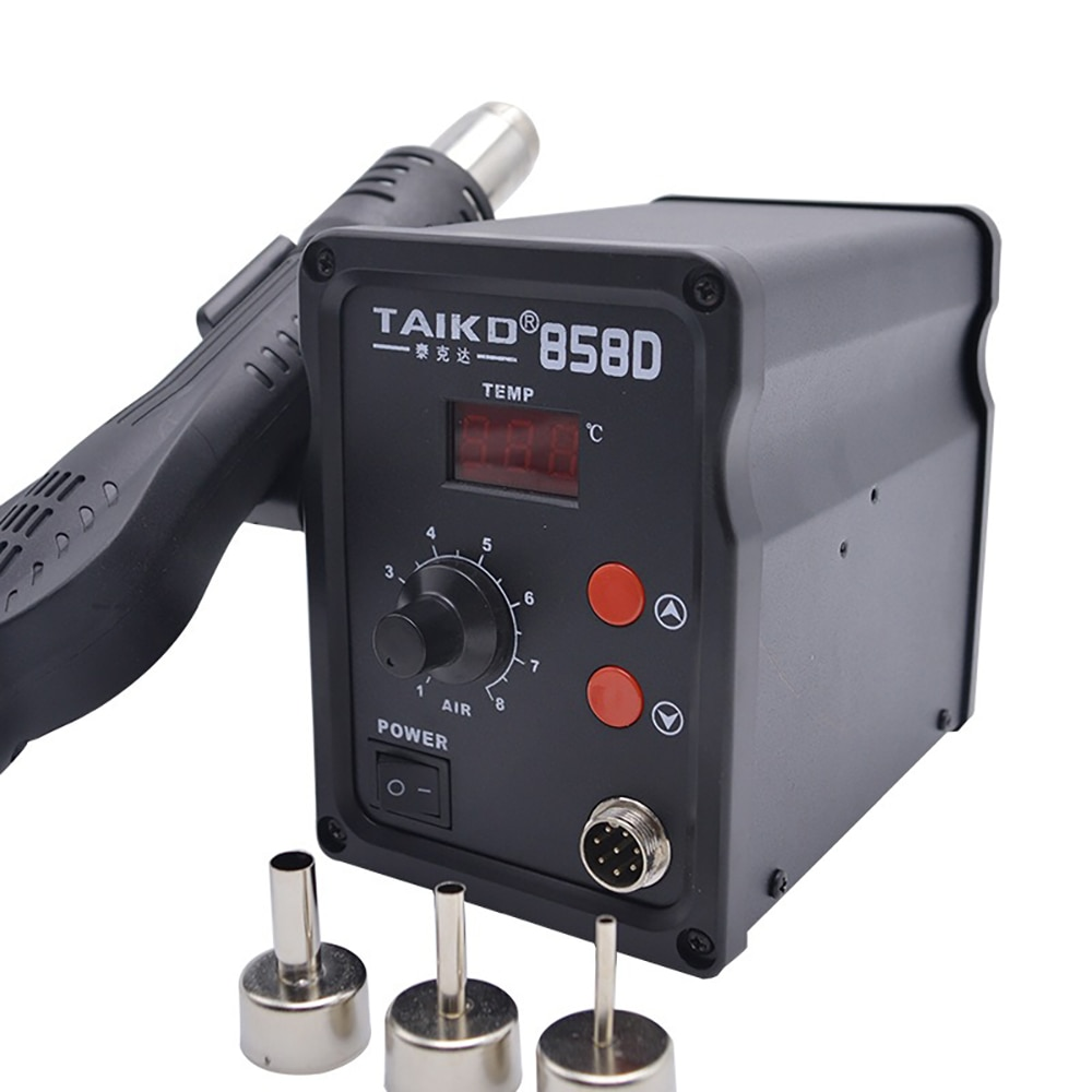 Паяльная станция TAIKD 858D с мягким воздухом и горячим воздухом, 500 Вт