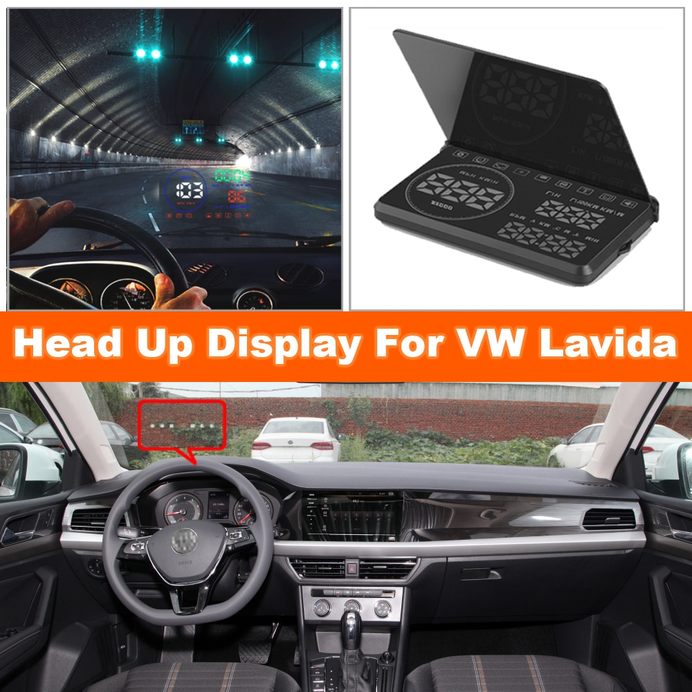 Car HUD Head Up Display Auto Electronic Accessories For Volkswagen VW Lavida 2016-2020 OBD2 Projector Windshield Plug And Play