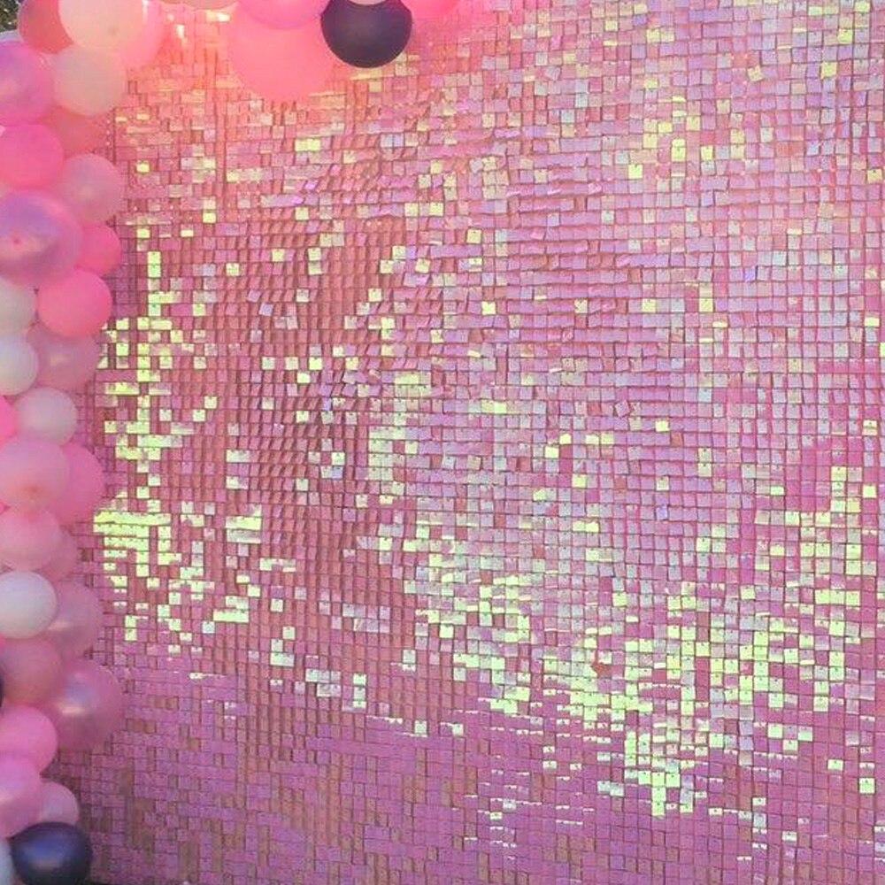 قماش قطني وردي بألوان زاهية بألوان زاهية ، خلفية مزخرفة بالترتر ، بألوان زاهية ، لوحة جدارية لحفلات الزفاف ، خلفية للاحتفال بعيد الميلاد