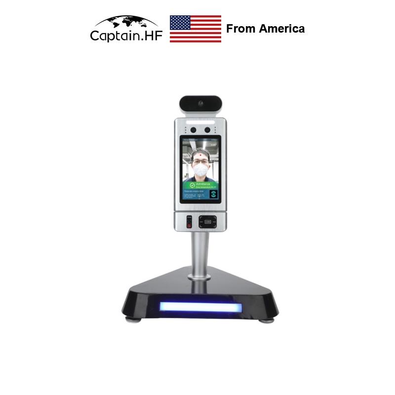 جهاز التعرف على الوجه كابتن الولايات المتحدة ، قياس درجة الحرارة التلقائي ، رمز ثنائي الأبعاد ، بطاقة IC 4 في 1