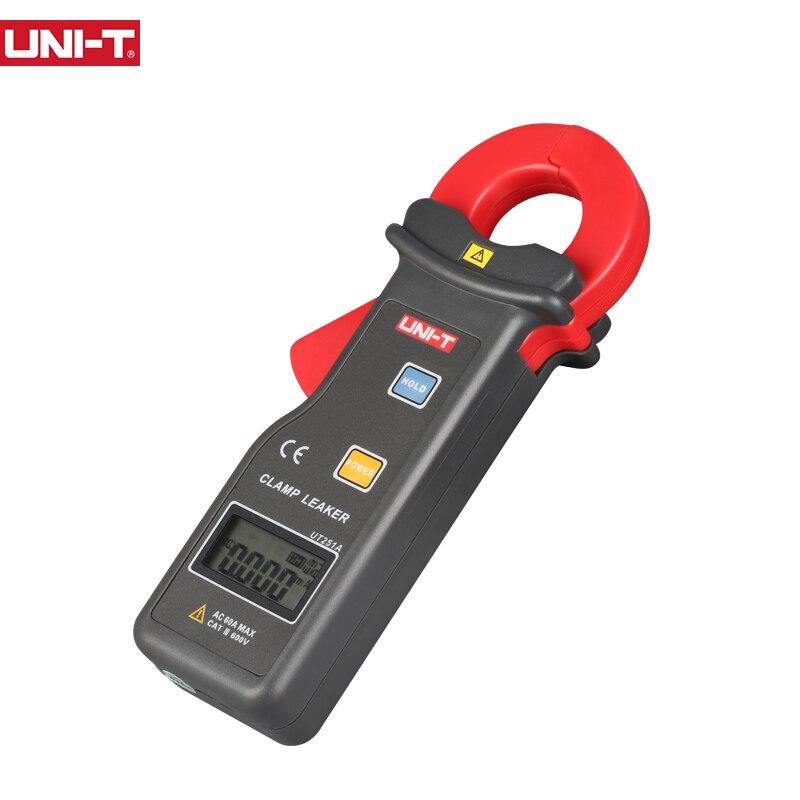 Medidor de corriente de CA UT251A de UNI-T, medidor de corriente de alta sensibilidad 600A para pantalla LCD de Motor eléctrico