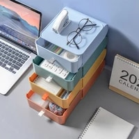 new plastic desktop organizer drawer office accessories storage boxes stackable large capacity makeup organizer storage stand