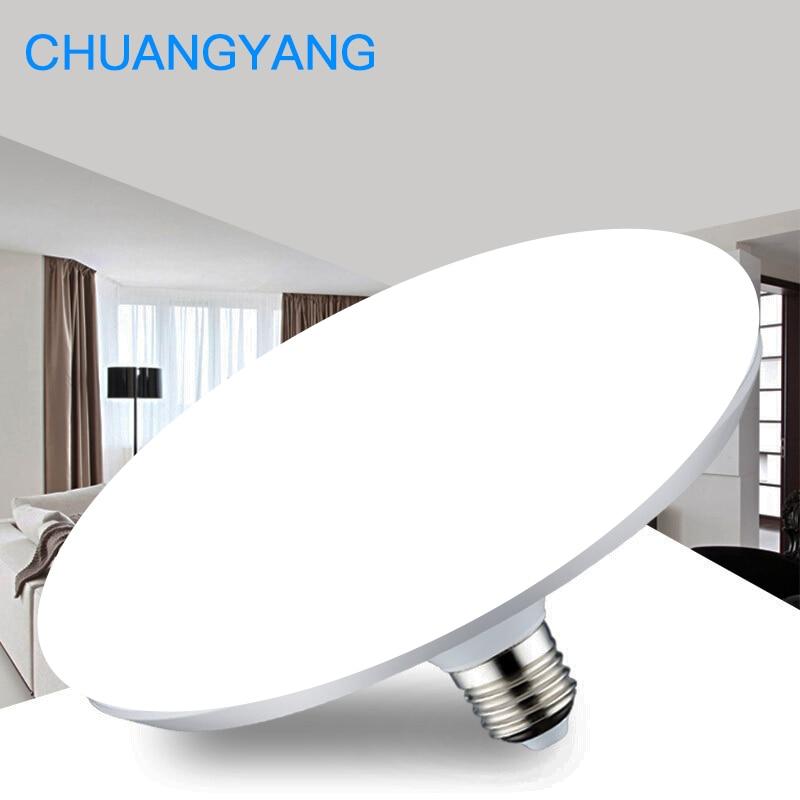 Super Bright 220V E27 Led Bulb Light 20W 40W 50W 60W Lampada Ampoule Bombilla Energy Saving UFO Lamp for Home Living Room