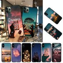 YNDFCNB Dream ciel étoilé coque de téléphone pour iPhone 8 7 6 6S Plus 5 5S SE 2020 12pro max XR X XS MAX 11 étui