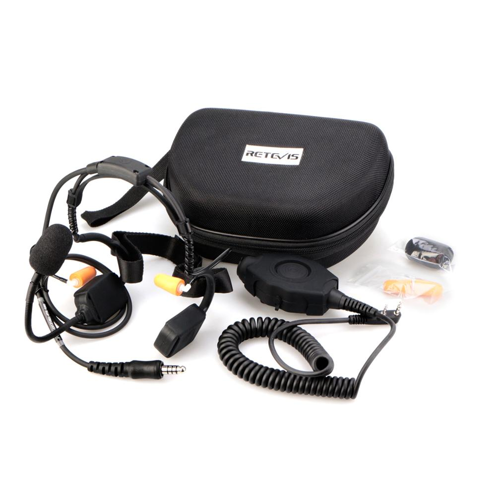 Retevis EB020K 2 Pin Waterproof Bone conduction Noise canceling headset for Kenwood enlarge