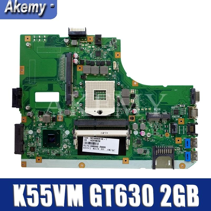 K55VM اللوحة الأم For Asus للK55VM K55V K55 K55VJ المحمول اللوحة K55VM GT630 2GB REV 2.2 اختبار اللوحة الأصلية