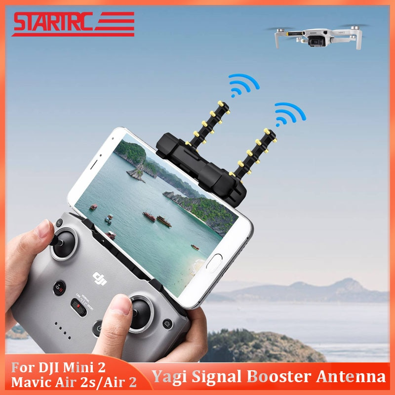 Усилитель сигнала STARTRC DJI Mini 2, антенна Yagi, расширитель диапазона, 5,8G для DJI Mavic Air 2/ Air 2 s, пульт дистанционного управления для дрона