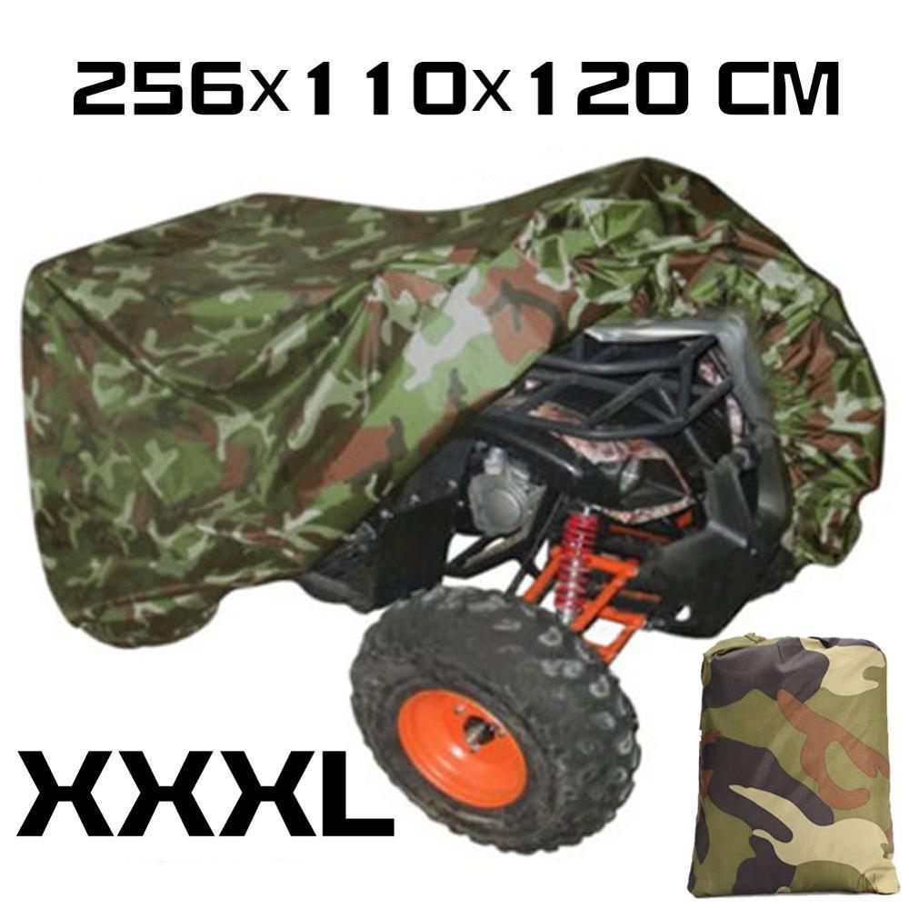 Universal 190T camuflaje impermeable motocicleta cubierta Quad ATV vehículo Scooter moto cubierta M L XL XXL XXXL motocicleta