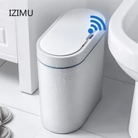 smart sensor trash can electronic automatic household bathroom toilet bedroom living room waterproof narrow seam sensor bin