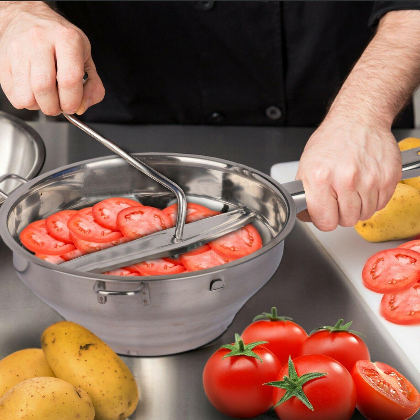 آلة دوارة من الفولاذ المقاوم للصدأ مطحنة الغذاء كبيرة لصنع هريس أو الحساء من الخضروات الطماطم creatided أدوات مطبخ المنزل