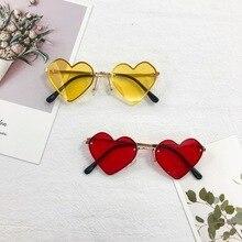 2021 New Children's Sunglasses Love Rimless Sunglasses UV Protection Baby Sunglasses Children Sun Vi